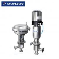 Wholesale Stainless Steel Pneumatic Actuator Valve For Aseptic Regulating With Controlller / Positioner from china suppliers