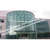 Quality Spider Glass Façade Curtain Walls Bolted Point Fixed Glazing Curved Design for Exhibition Booth for sale