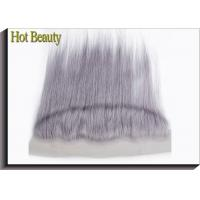 Quality Customized Purple Grey Human Hair Virgin Lace Frontal Straight Pre-plucked lace for sale