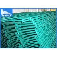 Quality Green Pvc Coated Wire Mesh Fencing , Double Security Wire Fence 2.5m Width for sale