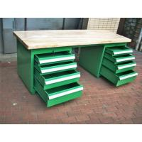 Wholesale 500 - 2000kg Wood Bench Top Industrial Workbenches With Tool Cabinets from china suppliers