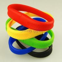 Wholesale colorful Hot Bracelet USB Flash Drive  MOQ 100pcs logo imprint from china suppliers