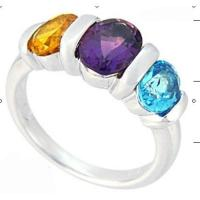Wholesale Citrine Amethyst and blue topaz ring from china suppliers