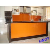Quality 4mm RAL 2001 Classic Orange Back Painted Glass / Lacquered Glass For Home Applications for sale