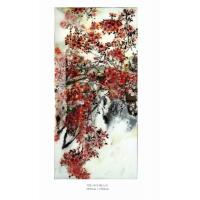 Wholesale Unique Morden Decorative Glass Wall Art Panels 13mm , Chinese Painting Style from china suppliers