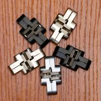 Wholesale 180 Degree Zinc Alloy Invisible Folding Door Cross Hidden Hinges from china suppliers