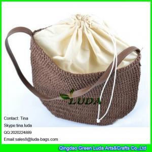 Wholesale LDZS-015 girls handbag paper straw crochet beach shoulder bag from china suppliers