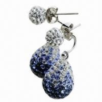 Wholesale Crystal Drop Earring, Available in Various Colors and Sizes from china suppliers