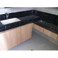 Wholesale Nero Marquan Rectangle Sink Marble Slab Countertop For Kitchen Eased Edge from china suppliers