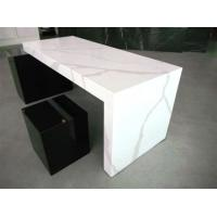 Wholesale artificial calacatta white quartz stone kitchen for Granite countertop width