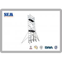 Quality Double Width Mobile Aluminum Scaffolding With 135cm * 200cm , Movable Tower for sale