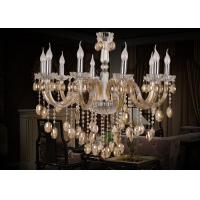 Wholesale Living Room Antique / Vintage Cognac Modern Glass Chandeliers 10 Light , Modern Pendant from china suppliers