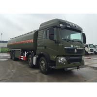 Wholesale HOWO Stainless Steel 8X4 Petroleum Oil Storage Tank Fuel Delivery Truck 30 CBM from china suppliers