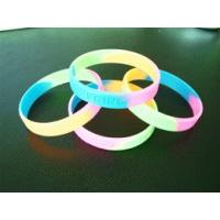 Wholesale Promotional Gift For Adult Size, Rubber Glowing Custom Silicone Wristband With 100% Silicone from china suppliers