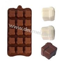 Wholesale Wholesale Competitive Price 15 Holes Gift Box Shape Silicone Chocolate Mold With Clasp from china suppliers