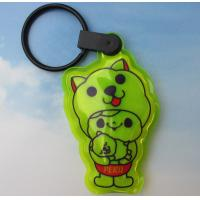 Wholesale Reflective PVC Keyring with LED, Reflective Keychain with Light from china suppliers