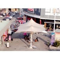 Quality Larger Space Steel Work Tensile Structure Architecture Fabric Sun Shade Roof For Plaza for sale