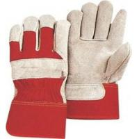 Wholesale Grey cow split leather abrasion resistance Red leather protective gloves for industrial from china suppliers