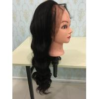 Wholesale new 360 lace wigs with hair in the middle density 180% 150% 360 lace wigs 4 clips adjustable strips body wave from china suppliers