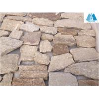 Quality Sesame Yellow Granite Flagstone Wall Stone Crazy Stone Wall Cladding Flagstone Paving for sale
