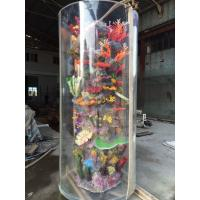 Wholesale Large Cylinder Acrylic Aquarium Tanks Custom Fish Tanks With Coral from china suppliers