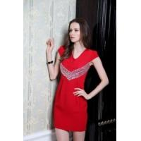Wholesale China Silk Dress / Red 100% Silk Dress from china suppliers