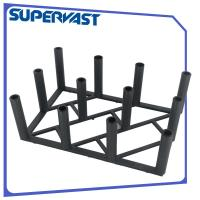 Wholesale 33cm Height 12 holder Black Outdoor Patio Umbrella Display Rack KD Style from china suppliers