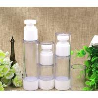 Wholesale 15ml 30ml  50ml cosmetics trial samples airless bottle vacuum flask emulsion squeeze bottle small plastic bottle from china suppliers