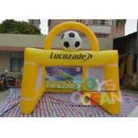 Wholesale PVC Lucozade Inflatable Soccer Shooting Goal For Football Playing from china suppliers