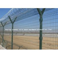 Quality Anti Climb Airport Security Fencing , Welded Wire Mesh Fencing Panels for sale