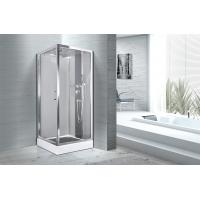 Square 900 X 900 Bathroom Shower Cabins White ABS Tray Chrome Profiles