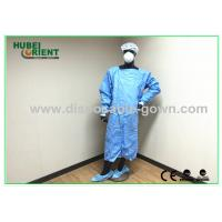 Wholesale Waterproof Blue Medical Disposable Isolation Gown Breathable 50gsm from china suppliers