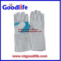 Wholesale Reinforced Palm Safety Welding Gloves,grey color leather welding Gloves from china suppliers