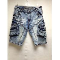 Wholesale Wrinkle Free Mens Short Pants Jeans With Embroidered Pocket Machine Washable from china suppliers