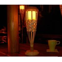 China Solar Tabletop Bamboo Light on sale