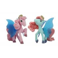 Green Color Plastic  Pony Figures Toys With Flying Wing  2.5' - 3