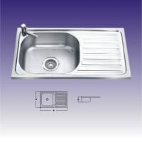 Wholesale Round Shape Single bowl Stainless Steel Kitchen Sinks With Drainboard from china suppliers