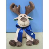 Wholesale Big Christmas Plush Toys Moose / Reindeer Stuffed Animals With Ribbon from china suppliers