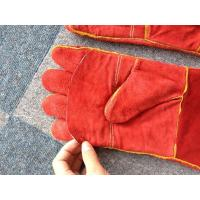 """Quality 16"""" / 14"""" Red Safety Working Gloves Full Lining Apron Palm Kevlar Stiched for sale"""