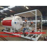 Wholesale China made high quality and lower price 10cbm mobile skid lpg gas storage tank with digital weighting scale for sale from china suppliers