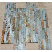 Wholesale Green Mixed Rusty Slate Thin Stone Veneer,Split Face Slate Z Stone Cladding,Outdoor Stone Panel from china suppliers