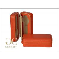 Wholesale Orange Watch Case Holder Box Leather , Travel Watch Cases For Men from china suppliers