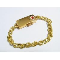 Wholesale Gold Metal 8GB 16GB 32GB Wristband USB Flash Drive Engrave Logo from china suppliers