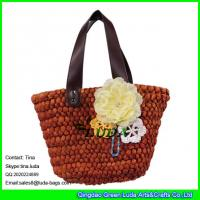 Quality LUDA wholesale straw handbags  large cornhusk women straw bags for sale