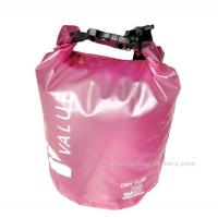 Wholesale 5L  Light-weight Outdoor Waterproof Dry Bags with Silk-screen Print Pink from china suppliers