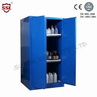 Quality Blue Metal Corrosive Storage Cabinet / Hazardous Storage Cupboards 30 Gallon for sale