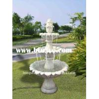 Wholesale Red Marble 3 Tiers Garden Stone Water Fountain from china suppliers