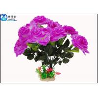 Wholesale OEM Beautiful Cheered Rose Plastic Artificial Plants Fish Tank Landscaping Decoration Acessories from china suppliers