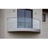 Buy cheap curved decking balustrade / balcony balustrade /glass veranda from wholesalers