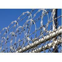 Wholesale Airport / Prison Concertina Razor Wire High Tensile Anti Climb Sun Resistant from china suppliers